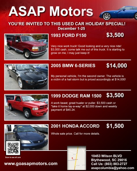 ASAP Motors Online Invitation