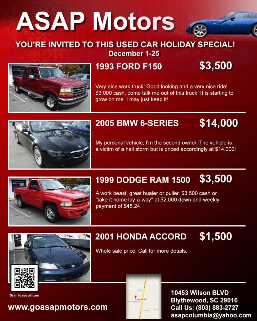 ASAP Motors Online Invitation