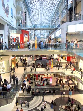 TORONTO CANADA Eaton Centre Shopping