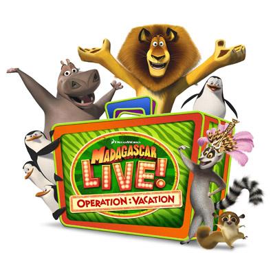 SEAWORLD PARKS & ENTERTAINMENT MADAGASCAR LIVE! OPERATION: VACATION LOGO