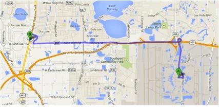 Aeroporto Orlando para Tiger Direct