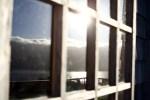 Reflexo na janela do Centro de Ocio