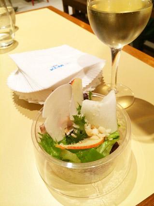 Salada de folhas e fruta