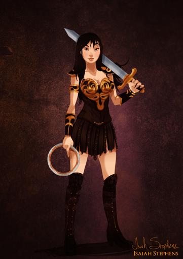Mulan Xena a Princesa Guerreira