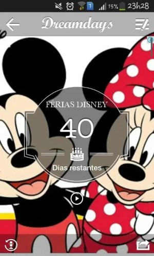 app disney contagem regressiva