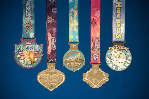 Medalhas Meia Maratona com Princesas da Disney
