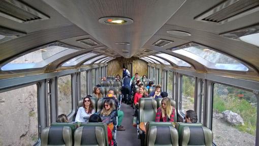 Vistadome trem Peru