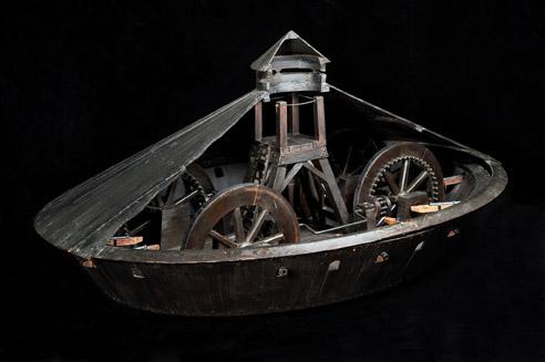 carro de guerra blindado projetado por Leonardo da Vinci