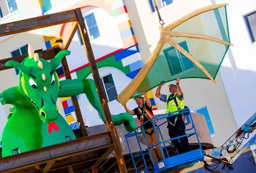 DRAGON INSTALLATION AT LEGOLAND FLORIDA RESORT