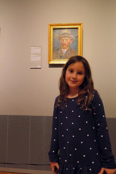 Amsterdam com criança o Museu Van Gogh
