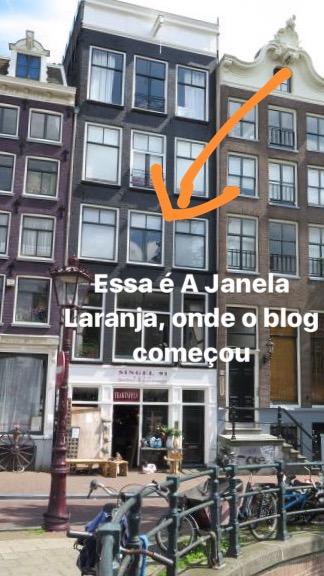 Amsterdam com criança a Janela Laranja