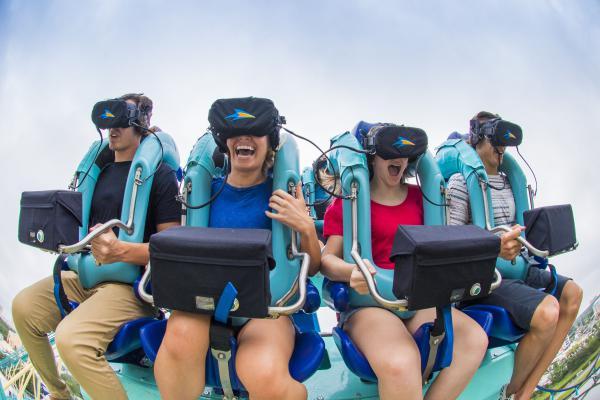 Kraken Unleashed montanha-russa de realidade virtual do Sea World