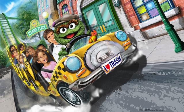 Oscar Wacky Taxi at Sesame Place