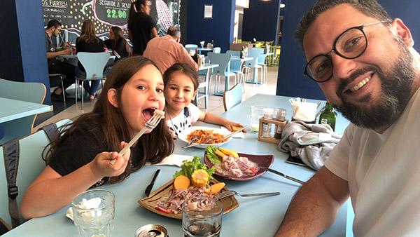 Eu e as Laranjinhas no QCeviche