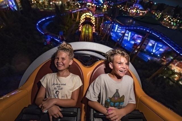 Toy Story Land at Night - Slinky Dog Dash