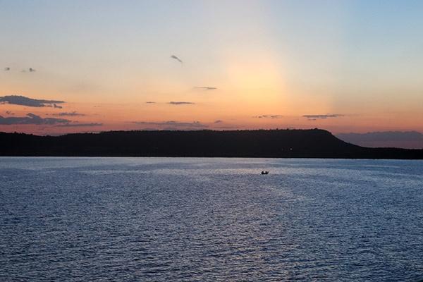 Por do sol Lago Sobradinho