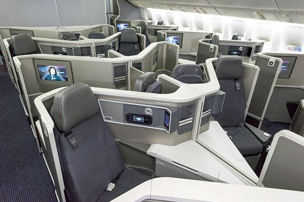 Cabine da executiva da American Airlines