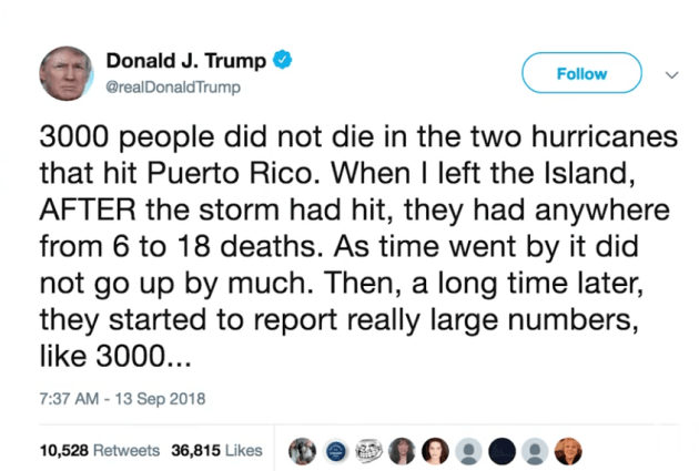 Donald Trump Tweet Tornado Death Toll Stats