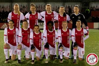16-03-2018: Voetbal: Vrouwen Ajax v PEC Zwolle: Amsterdam Sportpark de Toekomst seizoen 2017-2018 L-R Teamfoto Ajax