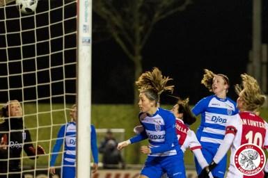 16-03-2018: Voetbal: Vrouwen Ajax v PEC Zwolle: Amsterdam Sportpark de Toekomst seizoen 2017-2018 L-R 1-0 Ajax door Marjolijn van den Bighelaar of Ajax