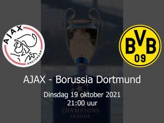 Aankondiging Ajax - Borussia Dortmund 19 oktober 2021