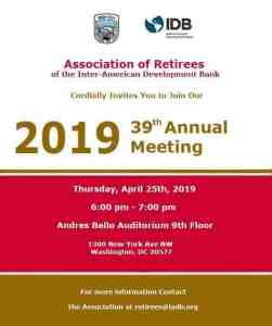 2019 39th Annual Meeting