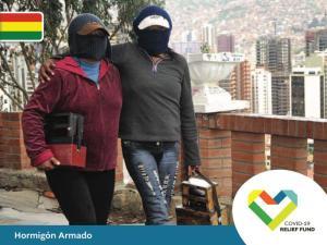 Bolivia - Ayuda para lustrabotas de La Paz – Hormigón armado de la Fundación Arte y Cultura Bolivianas