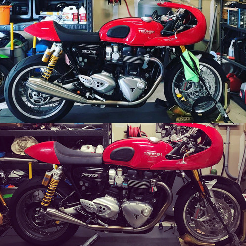 cone engineering shorty performer mufflers slip ons 2016 triumph thruxton r street twin speed twin