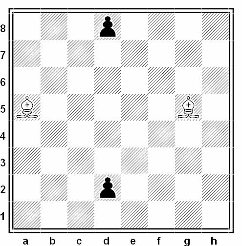 batalla doble alfil ajedrez escolar