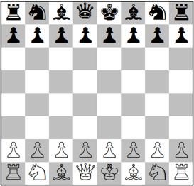 En el juego del ajedrez ✐ se enfrenta las piezas blancas y las negras en un tablero de ajedrez. Las piezas son el peón, la torre, el alfil, el caballo, la reina y un rey. Por cada bando hay dos torres, dos caballos, dos alfiles, una reina, un rey y ocho peones Rellena la tabla contando las piezas del juego
