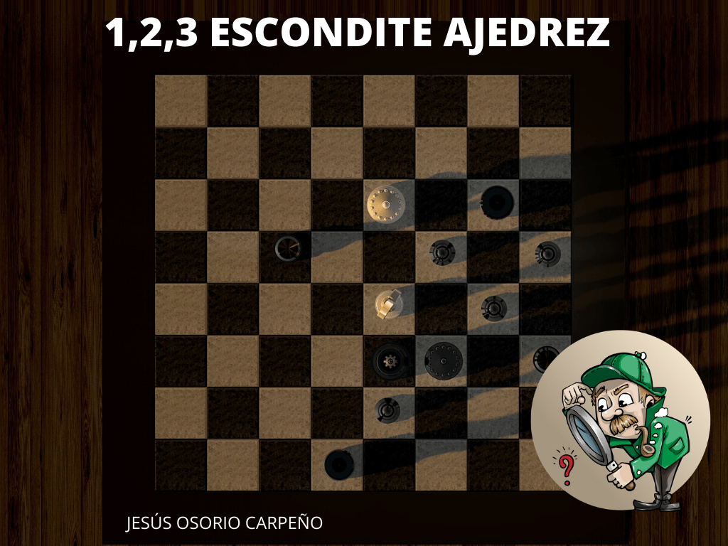 1,2,3 ESCONDITE AJEDREZ