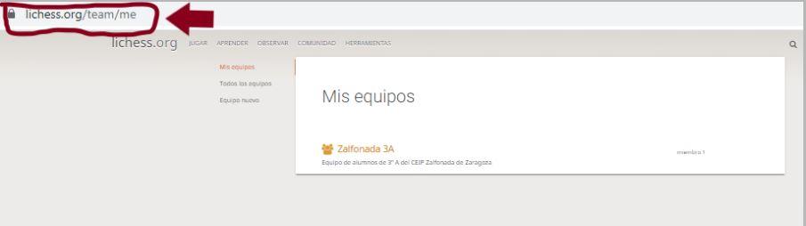 CREAR EQUIPOS DE AJEDREZ