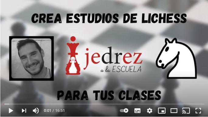 CREAR ESTUDIOS DE AJEDREZ EN LICHESS