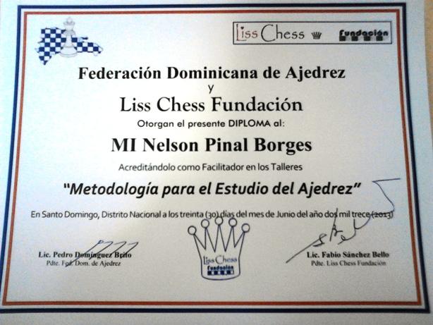 Diploma de la Fundación LISS CHESS