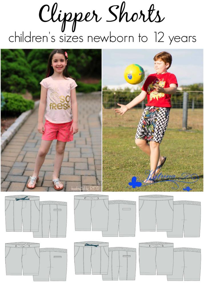 unisex shorts pattern