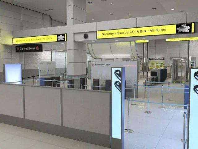 Contrôles de sécurité à l'aéroport