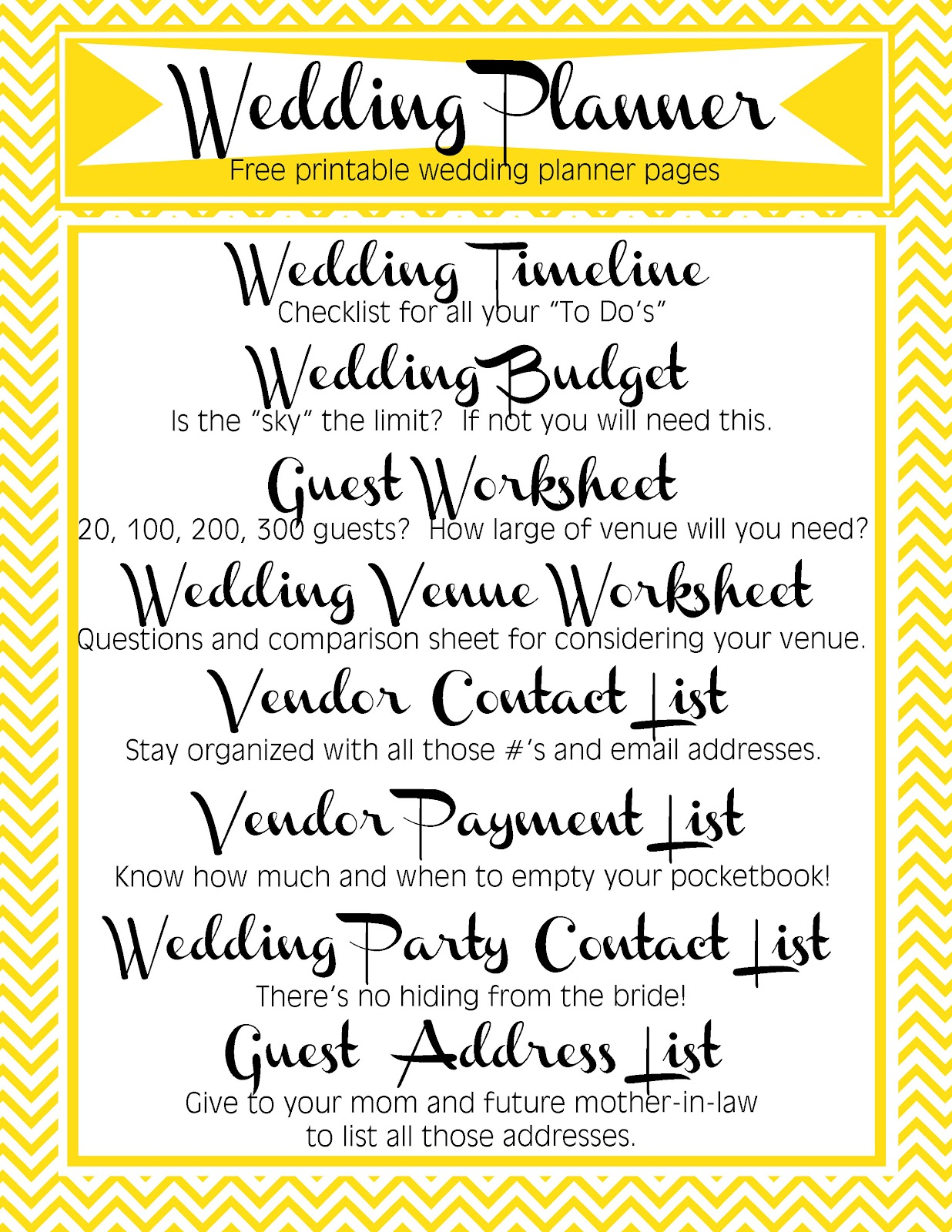 Applying The Wedding Planning Templates