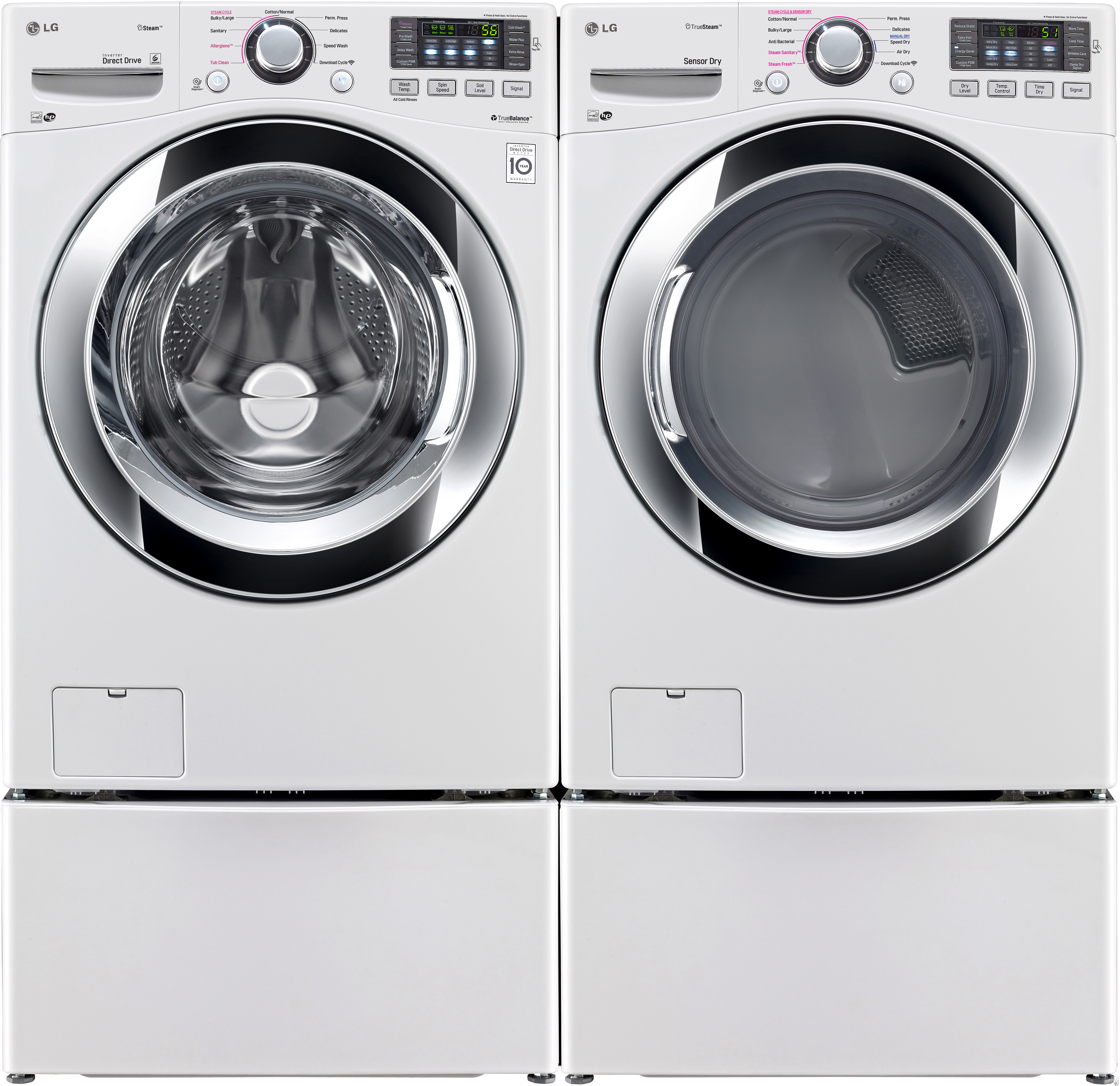 Lg Wm Hwa 27 Front Load Washer With 4 3 Cu Ft