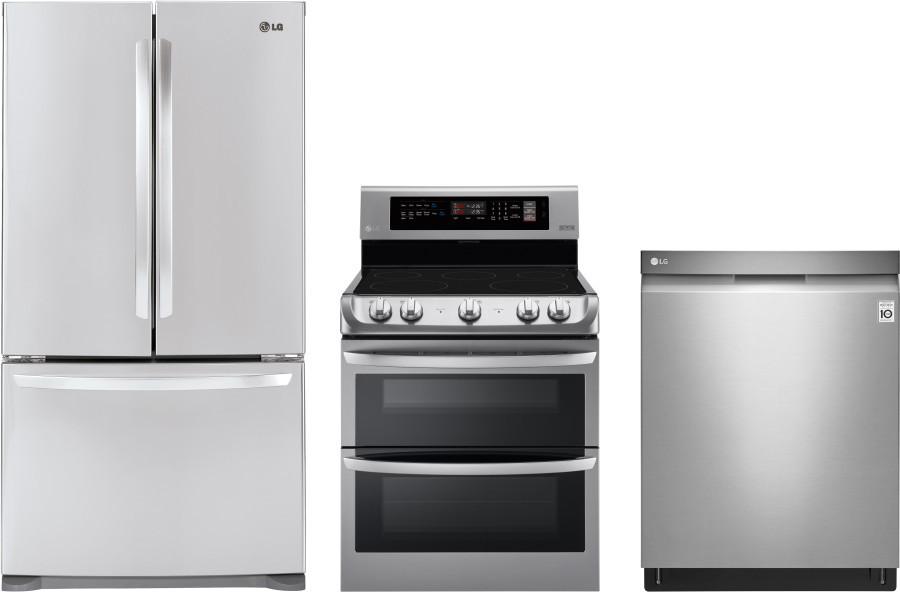 LG LGRERADW55 3 Piece Kitchen Appliances Package with ...