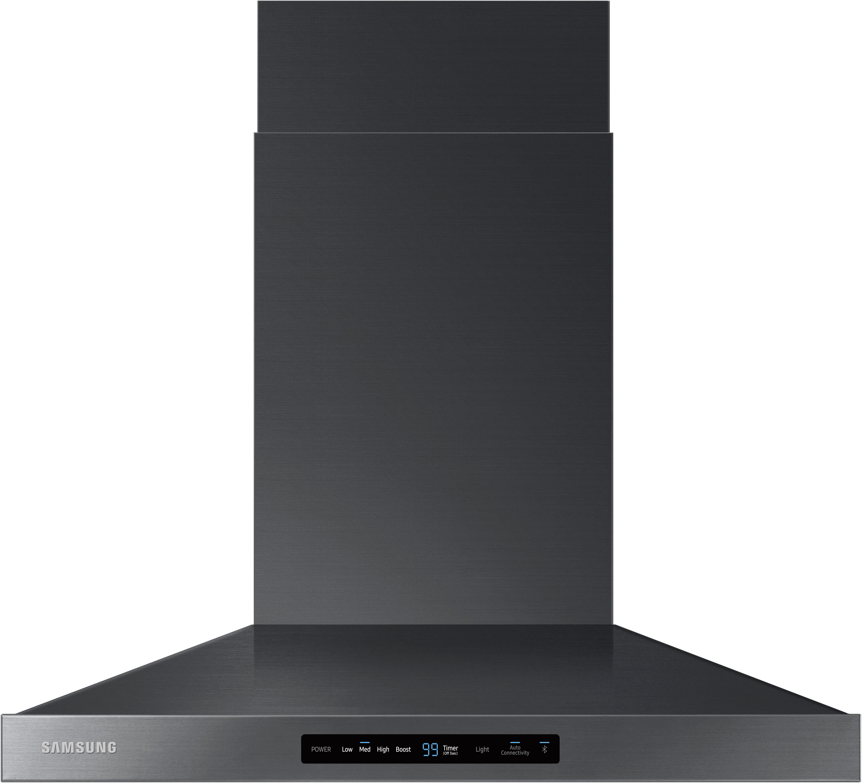 Samsung Nk30k7000wg 30 Inch Smart Wall Mount Chimney Range Hood With Wi Fi And Bluetooth Connectivity 600 Cfm 4 Speeds Booster Led Cooktop Lighting Digital Touch Controls Dishwasher Safe Metal Filters And Ada