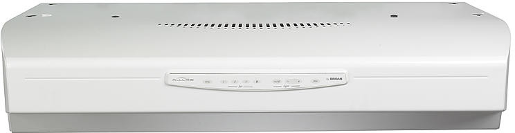 Broan Qs336ww 36 Inch Under Cabinet Range Hood With 430 Cfm Internal Blower Four Speed Electronic Control Dishwasher Safe Filters And Three Level Light Settings
