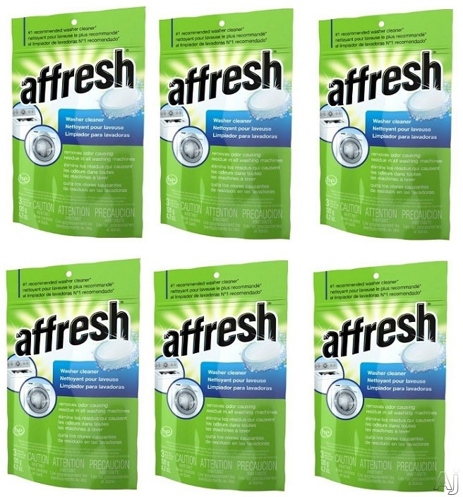 Whirlpool W10501250ca Affresh Washer Cleaner 6 Pack 18 Tablets