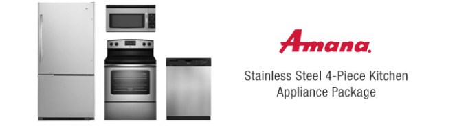 Amana Stainless Steel 4 Piece Kitchen Appliance Package