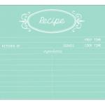 Mint Recipe Card | Free Printable