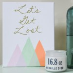 Let's Get Lost Canvas Art