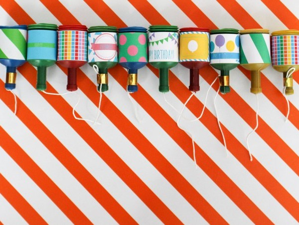 Birthday Party Popper Labels | Free Printable Friday