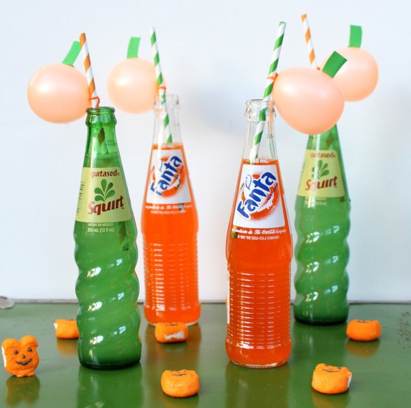 Pumpkin Balloon Straws
