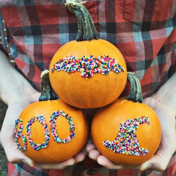 Sprinkle Silhouette Pumpkins