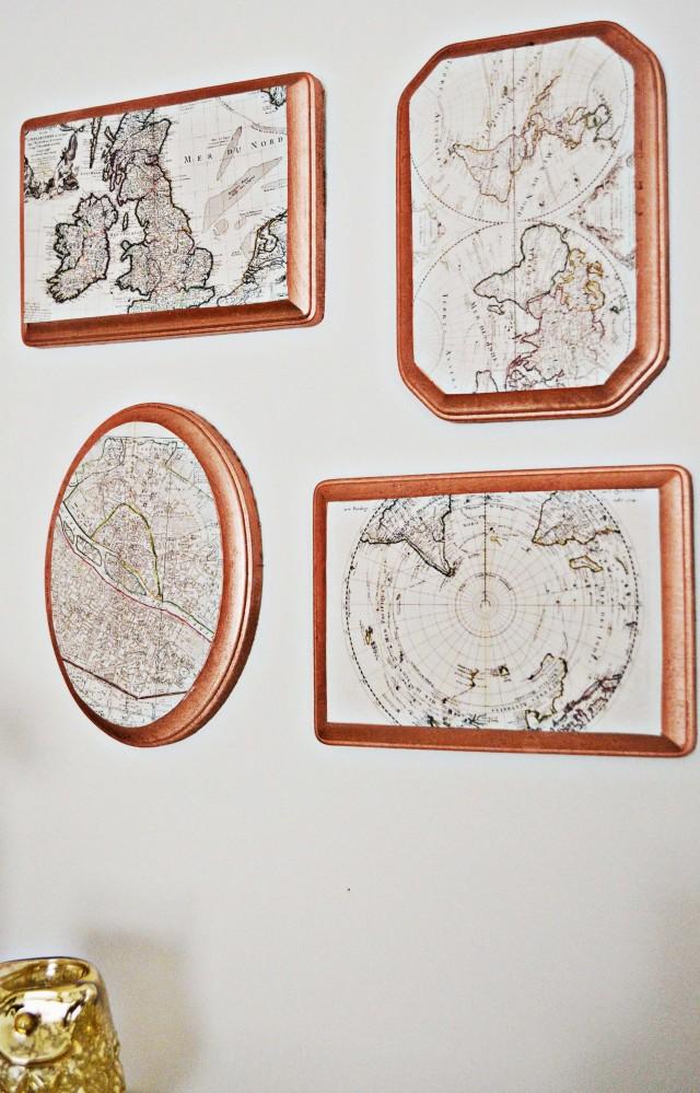 Copper Map Plaques | A Joyful Riot @ajoyfulriot
