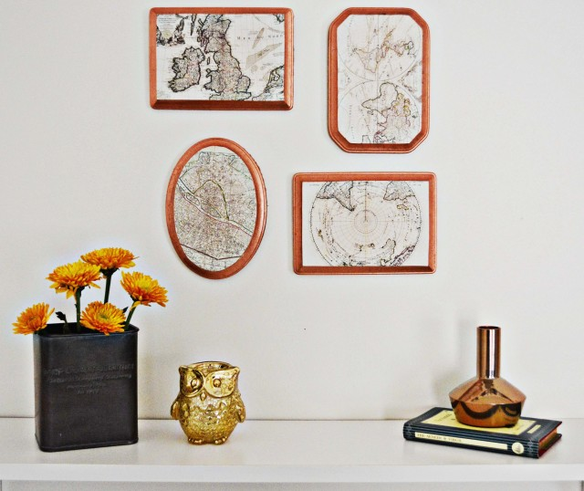 Copper Map Plaques | A Joyful Riot @ajoyfulriot